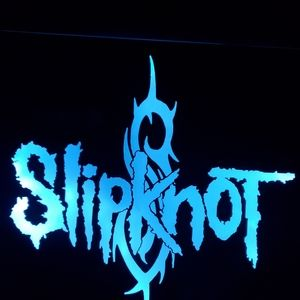Slipknot etched lighted mirror